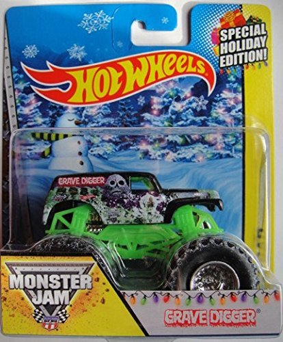 HOT WHEELS MONSTER JAM OFF ROAD 2014 HOLIDAY EDITION GRAVE DIGGER