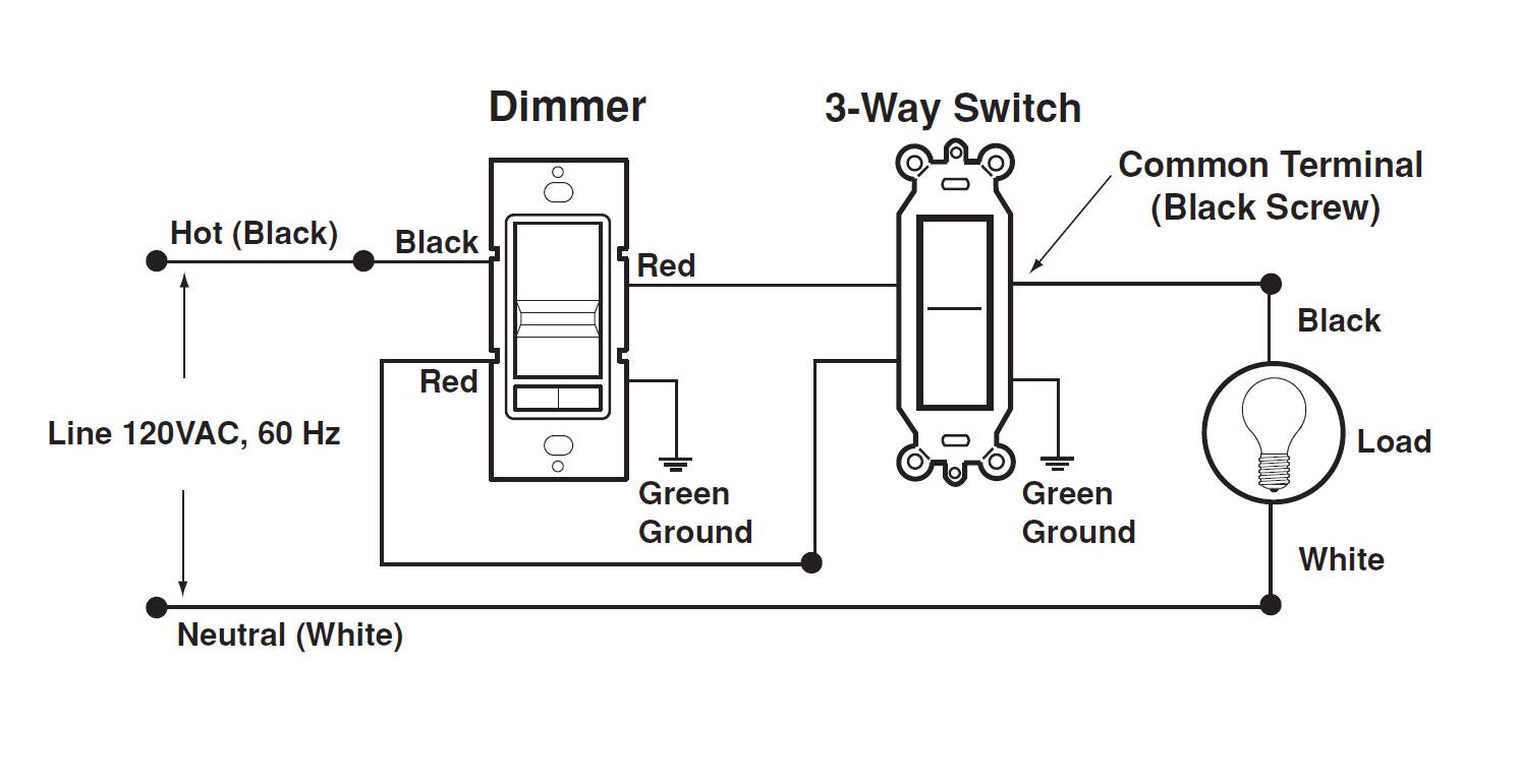 Wiring Diagram For 3 Way Dimmer Switch on one three switch light circuit schematic