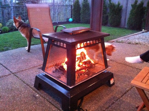 Char Broil Trentino Deluxe Outdoor Fireplace