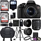 Canon-EOS-Rebel-T6i-DSLR-CMOS-Digital-SLR-Camera-with-EF-S-18-55mm-f35-56-IS-STM-Lens-58mm-2x-Professional-Lens-Wide-Angle-Lens-Tripod-Flash-UV-Kit-Sandisk-32GB-Deluxe-Accessory-Bundle
