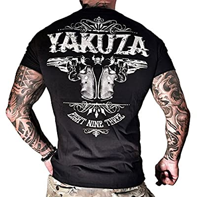 Yakuza T-Shirt Herren Round Neck TSB 674 Daily Use - Two Colts schwarz - Special Collection 2015