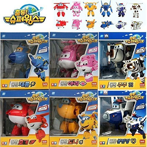 Super-Wings-Transformer-Airplane-Robot-Korean-animation-Character-toy-set-6-pcs-by-Super-Wings