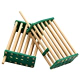 livestocktool.com 20 pack Bamboo Bee King Cage Prisoners Italian Bee Hives Queen Cage Match-box Moving Catcher Cage Beekeeping Tool (Color: random)