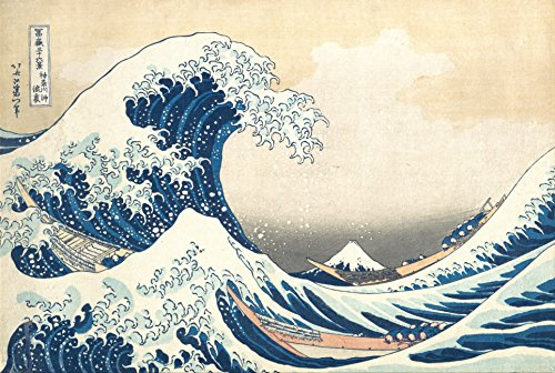 Maxi poster, motivo: La grande onda di Kanagawa, di Katsushika Hokusai