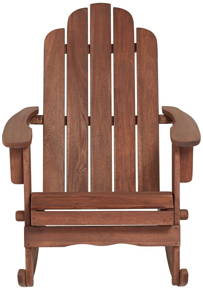 Chandler Dark Natural Adirondack Rocking Chair