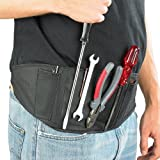 AGT Magnetischer Werkzeuggürtel mit 2 aufgesetzten Taschen