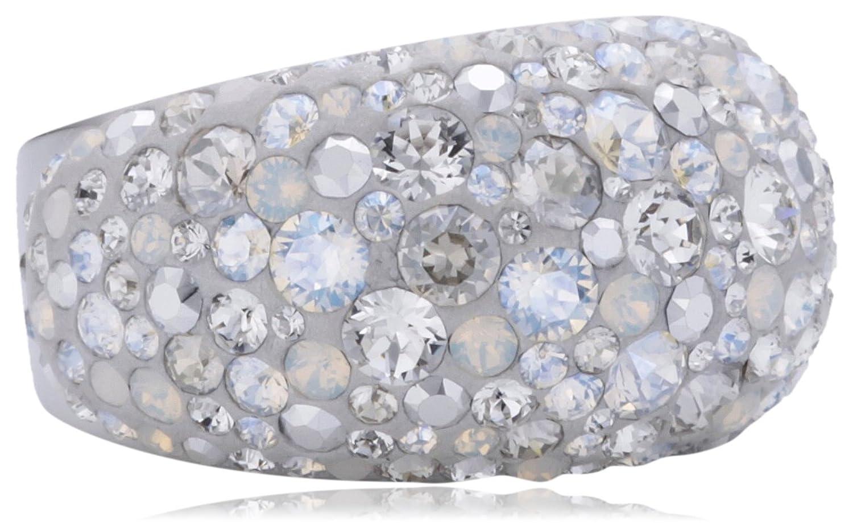 Swarovski Damen-Ring Mini Chic Swarovski-Kristall Metall weiß Gr.52 (16.6) 1181451