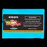 HXDZFX Glow in The Dark Pigment Powder 2 Pack 0.53oz(Blue Green) UV Powder Safe Non-Toxic for Slime,Nails,Epoxy Resin,Acrylic Paint,Halloween,Fine Art and DIY Crafts (Color: Blue Green)