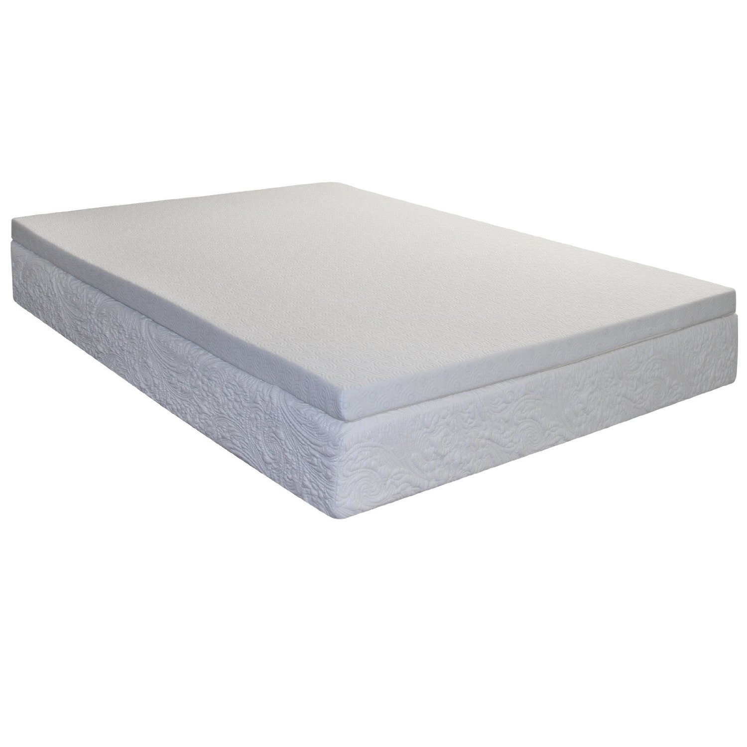 Spring Coil Mattress Topper Queen Size With Cool Gel Memory Foam 2 Inch Ebay