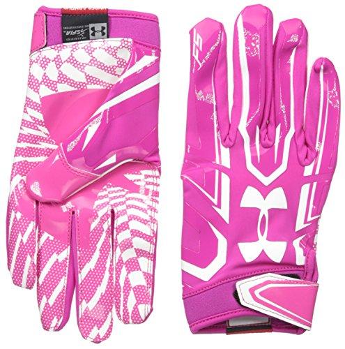 Guanti da football Under Armour F5 - Tropic Pink 654 (Medium)