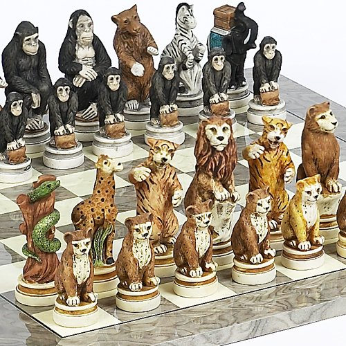 Super Time Cheap Animal Kingdom Chessmen From Italy