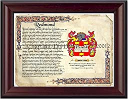 Redmond Coat of Arms/ Family Crest on Fine Paper and Family History