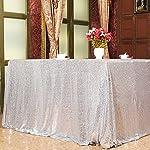 Eternal Beauty Sequin Tablecloth, Sequin Table Linen, 70