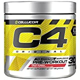 Cellucor C4 Original Pre Workout Powder Energy Drink w/ Creatine, Nitric Oxide & Beta Alanine, Fruit Punch, 30 Servings