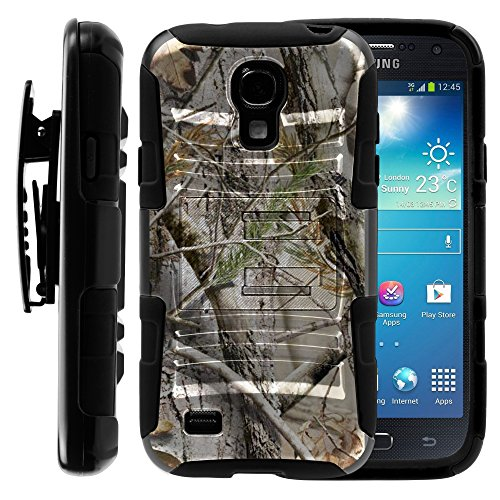 Samsung Galaxy S4 Mini Case, Samsung Galaxy S4 Mini Holster, Two Layer Hybrid Armor Hard Cover with Built in Kickstand for Samsung Galaxy S4 Mini I9190 from MINITURTLE | Includes Screen Protector - Tree Bark Hunter Camouflage (Samsung S4 Mini I257 Case compare prices)
