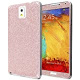 Fosmon SHINING-DIAMOND Front + Back Protective Skin with Clear Screen Protector Shield for Samsung Galaxy Note 3 / Note III (Pink)