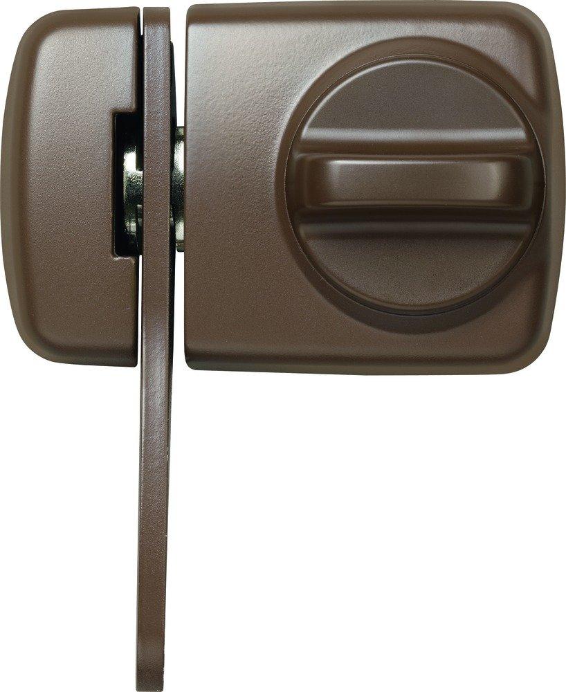 ABUS 589232 7530 B TürZusatzschloss mit Sperrbügel für Türen mit schmalen Rahmenprofilen, braun  BaumarktÜberprüfung und Beschreibung