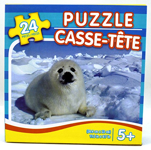 Adorable Baby Harp Seal - Jigsaw Puzzle 24 Pieces