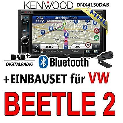 Volkswagen beetle dNX4150DAB kenwood - 2-dIN 2 navigationsradio mHL autoradio dAB uSB avec kit de montage