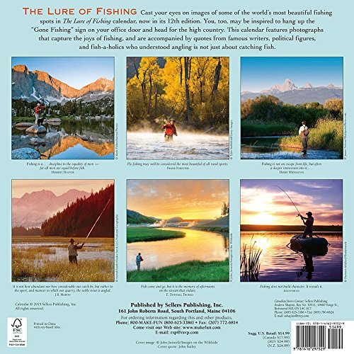 Lure of fishing wall calendar by sellers publishing inc for Hunt fish calendar