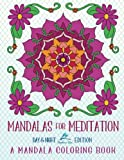 img - for Mandalas For Meditation: A Mandala Coloring Book: Day & Night Edition: A Unique Black Background Adult Coloring Book For Grownups & Children Featuring ... Relaxation Stress Relief & Art Color Therapy) book / textbook / text book