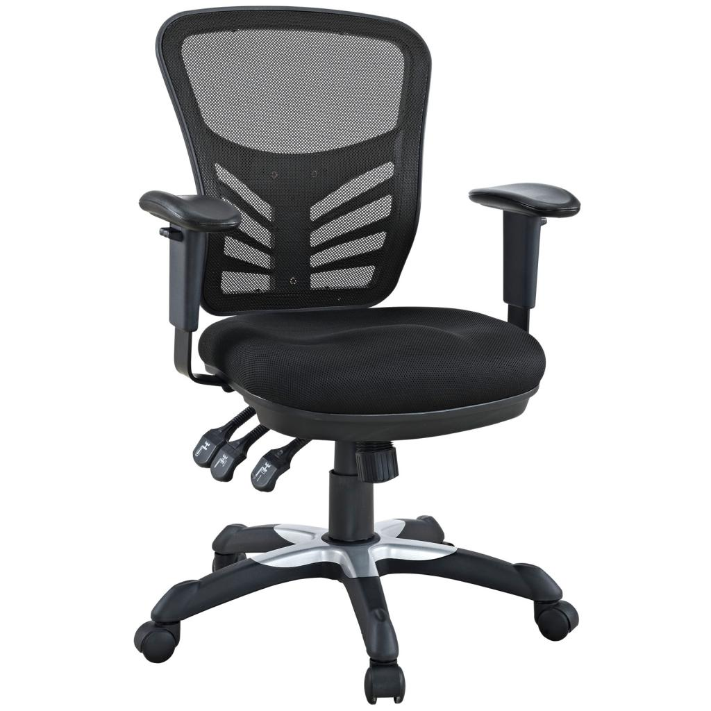 LexMod Articulate Black Mesh Office Chair Furniture Decor