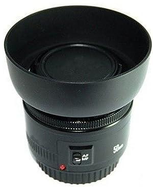ET-60 Lens Hood and 58mm Center Pinch Lens Cap Kit Gonine Replacement for Canon EF-S 55-250mm F/4-5.6 is II, EF 75-300mm F/4-5.6 III USM Lenses. (Color: ET-60)