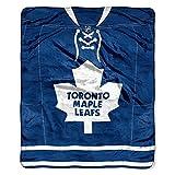 "NHL Toronto Maple Leafs Jersey Plush Raschel Throw, 50"" x 60"", Blue"