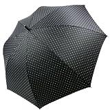 fancy rain O:KS 水玉プリント65cmジャンプ傘 (黒)