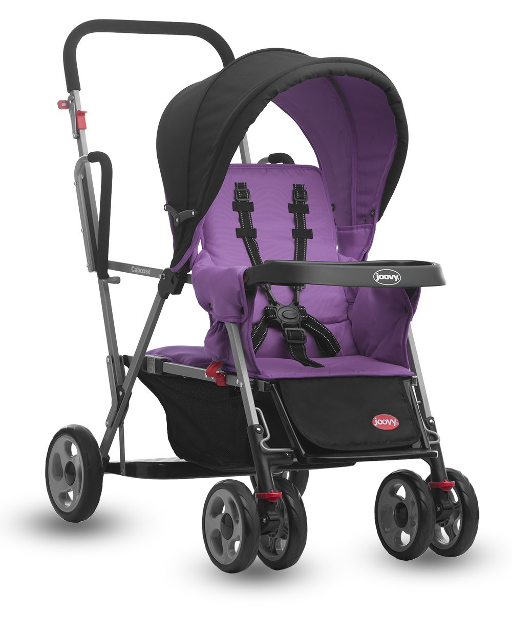 Joovy Caboose Stand On Tandem Stroller, Purpleness