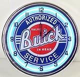 "Buick Service 15"" Neon Light Clock Sign Parts Garage Emblem Logo GSX Blue"