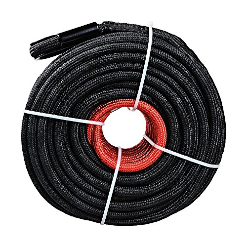 38-x-85-20000LBS-Black-Synthetic-Winch-Line-Rope-Cable-w-Rock-Heat-Guard