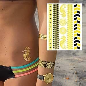 Gumtoo Sea Daze Metallic Jewellery Temporary Tattoos