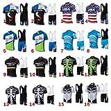 Männer Fahrrad-Club Cycling Team Bekleidung Jersey Shirts kurze Hosen Set
