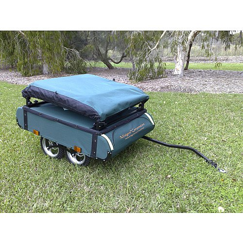 K&-Rite Midget Bushtrekka Bicycle C&er Trailer with Oversize Tent Cot  sc 1 st  Bom Jesus & Bom Jesus: Kamp-Rite Midget Bushtrekka Bicycle Camper Trailer with ...