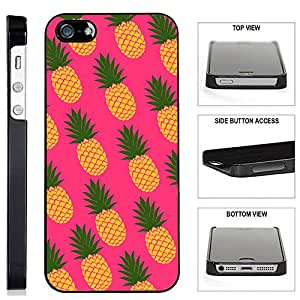 Teleskins Hot Pink Pineapple Iphone Se 5 5s Black Plastic Case Ultra