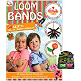 K7plus® Loom Bands Anleitungsheft - 64 Seiten - voll gepackt mit kreativen Loom Bandz Ideen - dazu 1.500 Loom Bands (5x300) + 60 x S-Haken + 5 x Hakennadel als Startpaket