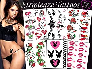 TEMPORARY TATTOO FACTORY Stripteaze Tattoos Package