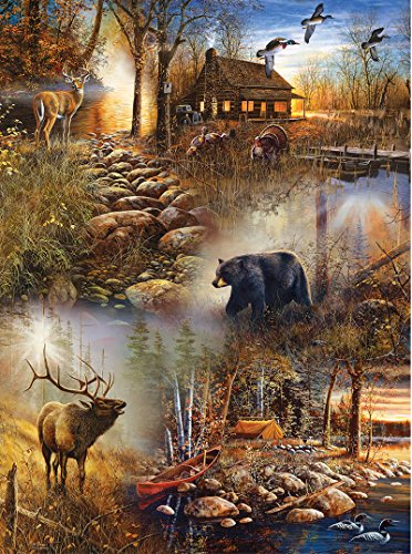 SunsOut Forest Collage Jigsaw Puzzle (1000-Piece) (Nature Puzzle 1000 compare prices)