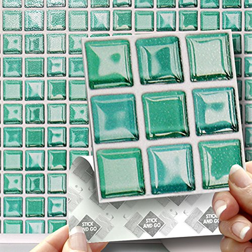Glass Mosaic Box Of 18 Tiles 4x4 Solid Peel Amp Stick On