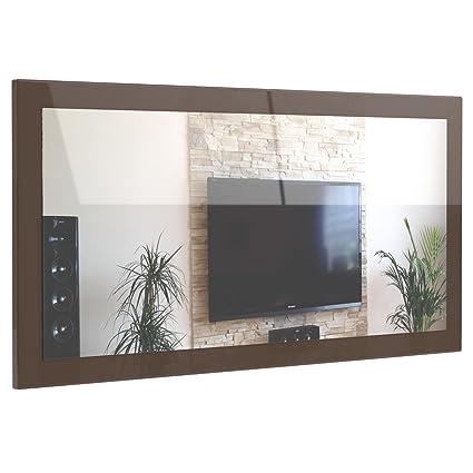 Miroir mural lima 139cm en en avola anthracite cuisine for Support miroir mural