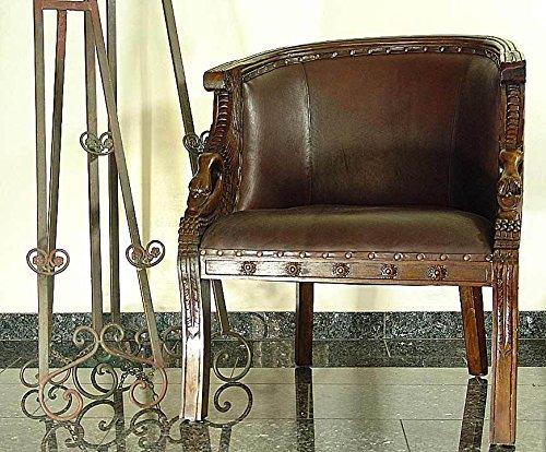 Poltrona con poggiapiedi in morbido colore teak sedute lounge marrone 92x 60x 76cm