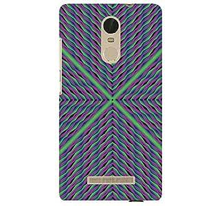 Green & Lavender Design - Mobile Back Case Cover For XIAOMI REDMI NOTE 3
