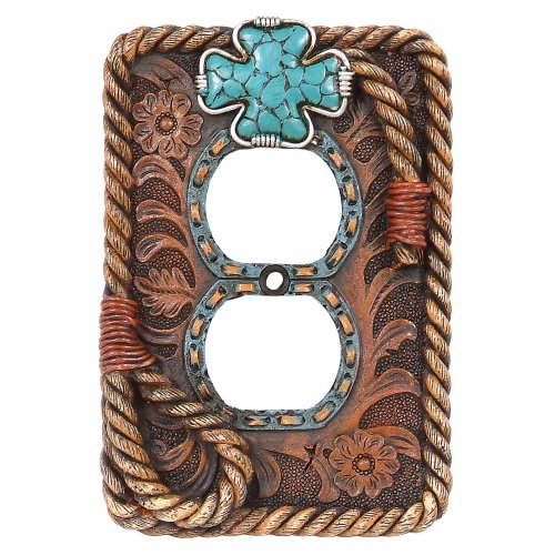 Turquoise Cross Outlet Cover (Western Electrical Covers compare prices)