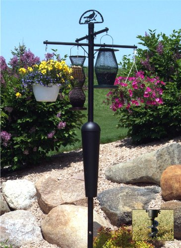 Squirrel Stopper  SQC05 Black Squirrel Stopper Pole and Baffle Set