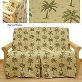 Desert Palm Skirted Futon Slipcover Full 5 pc pillow set 622
