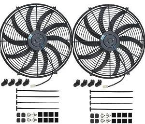 "PROCOMP DUAL 16"" INCH ELECTRIC COOLING RADIATOR FAN KIT"