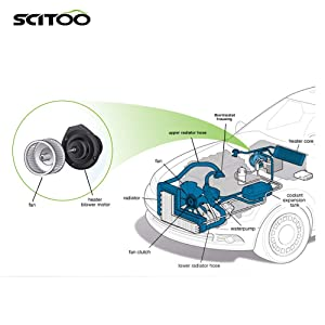 SCITOO ABS plastic Heater Blower Motor w//Fan HVAC Resistors Blowers Motors Replacement fit for 2000-2005 Toyota Echo 1995-2004 Toyota Tacoma Front