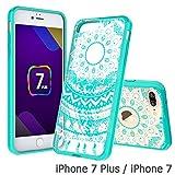 iPhone 7 Plus Clear Case, AnoKe Scratch Resistant Colors Dream Catcher Mandala Flower Ultra Slim Acrylic Hard Cover TPU Bumper Hybrid For Apple iPhone 7 Plus TM CH Mint