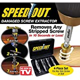 NEW Speed Out 4pc Damaged Screw Extractor As Seen on Tv-Works With Any Drill